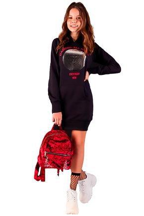 vestido fashion de tecido mirac kids fruto4u