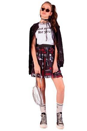 conjunto blusa e saia fashion fruto4u