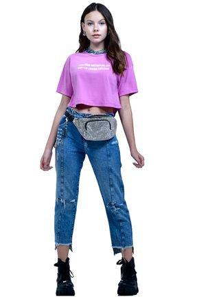 blusa manga curta e calca jeans fruto1